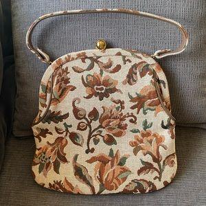 Vtg Mel-ton brocade/tapestry purse